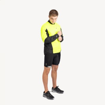 Men's Mediant Waterproof Reflective Cycling Jacket Fluro Yellow Black