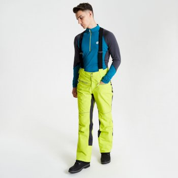 Men's Intrinsic Ski Pants Citron Lime Ebony