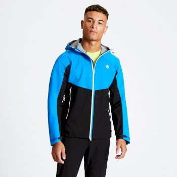 Men's Touchpoint Lightweight Waterproof Jacket Athletic Blue Black