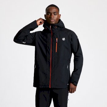 Men's Diluent II Waterproof Hooded Jacket Black
