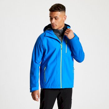 Men's Diluent II Waterproof Hooded Jacket Athletic Blue Olympic