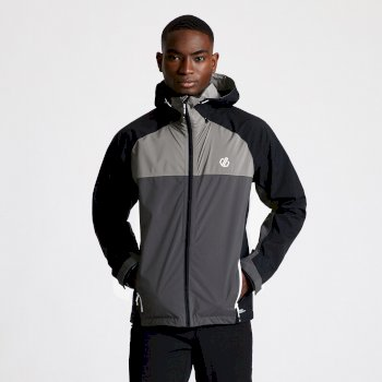 Men's Aline II Lightweight Waterproof Jacket Ebony Grey Black