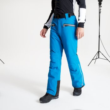 Men's Stand Out Black Label Waterproof Insulated Ski Pants Petrol Blue