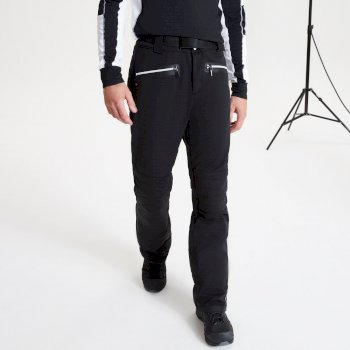 La Collection Jenson Button - Pantalon de ski Homme imperméable et isolant STAND OUT - Collection Black Label Noir