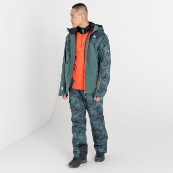 Men's Absolute II Waterproof Ski Pants Fern Green Black