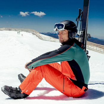 Men's Achieve II Recycled Waterproof Ski Pants Amber Glow