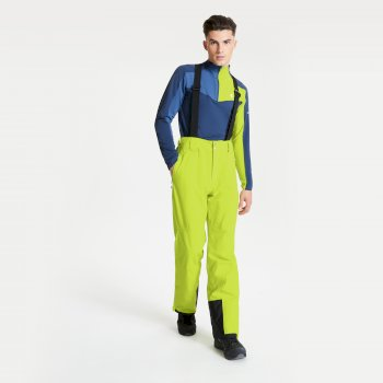 Men's Achieve II Waterproof Ski Pants Lime Punch