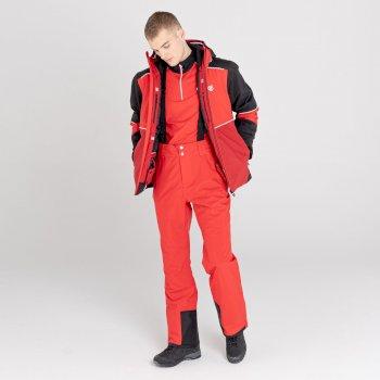 Men's Achieve II Recycled Waterproof Ski Pants Chinese Red