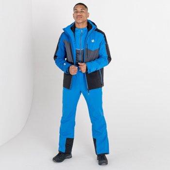 Men's Achieve II Recycled Waterproof Ski Pants Athletic Blue