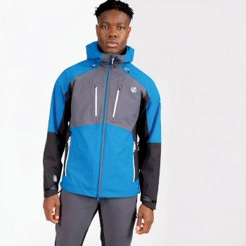 Men's Soaring Waterproof Jacket Athletic Blue Ebony Grey