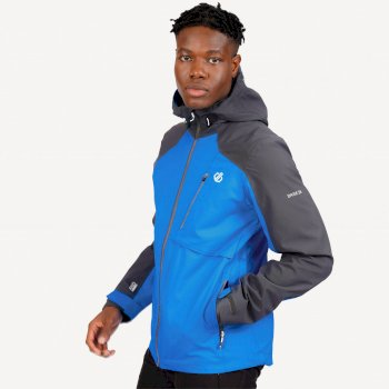 The Jenson Button Edit - Diluent III Waterproof Hooded Jacket Athletic Blue Ebony Grey