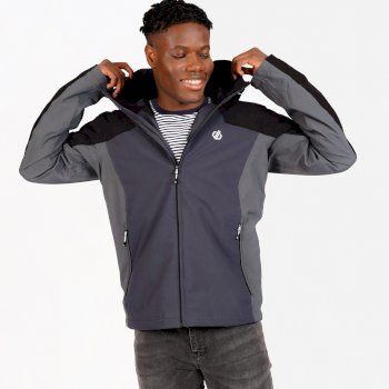 Men's Recode II Waterproof Jacket  Black Ebony Grey