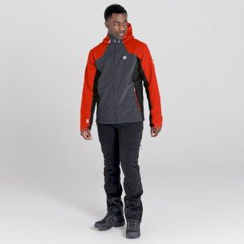 Men's Recode II Waterproof Jacket  Trail Blaze Red Ebony Grey