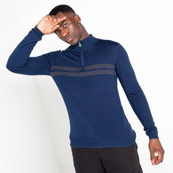 Men's Unite Us Half Zip Knit Sweater Nightfall Navy