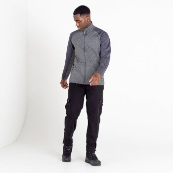 Men's Collective Full Zip Core Stretch Midlayer Charcoal Grey Marl