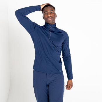 Men's Fuser Half Zip Core Stretch Midlayer Nightfall Navy