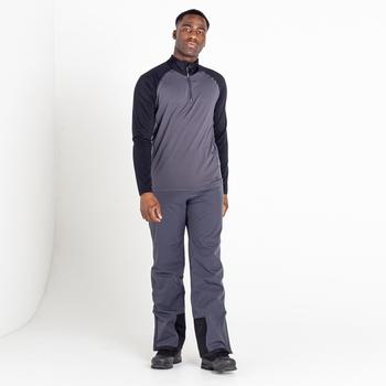 Men's Fuser Half Zip Core Stretch Midlayer Ebony Grey Black