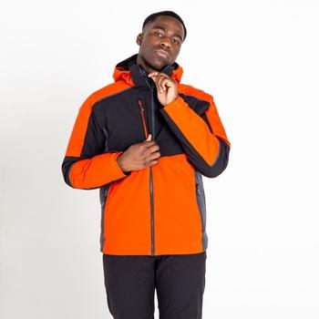 Men's Emulate Waterproof Wintersport Jacket Amber Glow Black