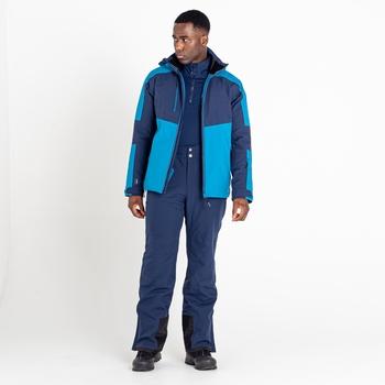 Men's Emulate Waterproof Wintersport Jacket Dark Methyl Nighfall Navy