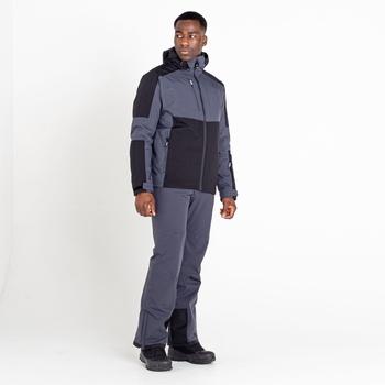 Men's Emulate Waterproof Wintersport Jacket Black Ebony Grey