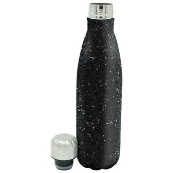 Metal Glitter Bottle Black