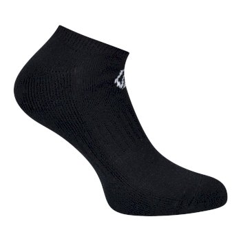 Adult's Essentials No Show Socks 3 Pack Black
