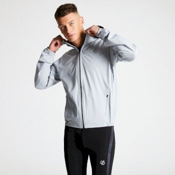 Arrange Lightweight Reflective Packaway Jacket Argent Grey