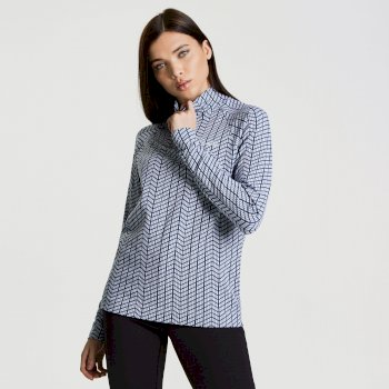 Polaire Motif II Sweater White/BluWng