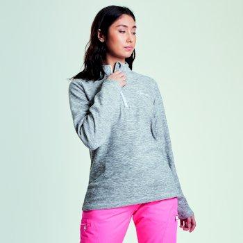 Women's Ample Half Zip Marl Fleece Ash