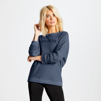 Women's Resilience Cutout Neck Sweater Meteor Grey