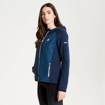 Women's Glorious Full Zip Hooded Fleece Blue Wing