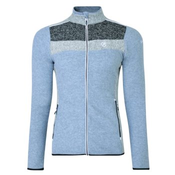 Polaire design chaude et confortable Femme INCLUDE avec ouverture zippée Gris