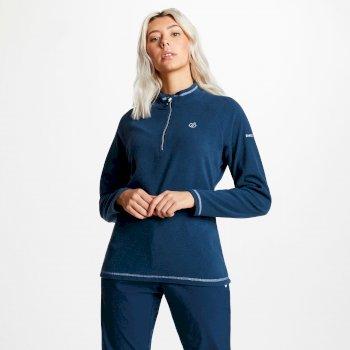 Polaire chaude et confortable Femme FREEFORM avec ouverture par 1/2 zip Bleu