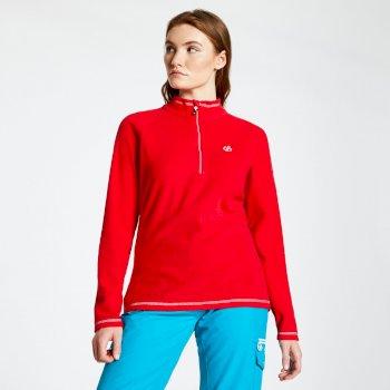 Polaire chaude et confortable Femme FREEFORM avec ouverture par 1/2 zip Rouge