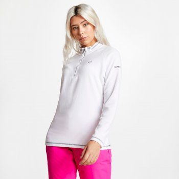 Polaire chaude et confortable Femme FREEFORM avec ouverture par 1/2 zip Blanc