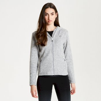 Women's Forerun Full Zip Hooded Fleece Ash