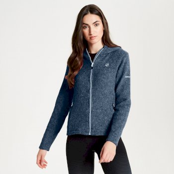 Women's Forerun Full Zip Hooded Fleece Blue Wing