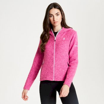 Women's Forerun Full Zip Hooded Fleece Fuchsia