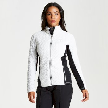Polaire élégante et confortable Femme SUMPTUOUS avec conception design et ouverture zippée Blanc
