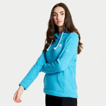 Women's Realise Hooded Fleece Fresh Water Blue
