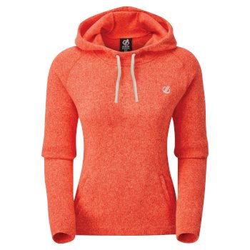 Sweat polaire à capuche Femme INITIATIVE Orange