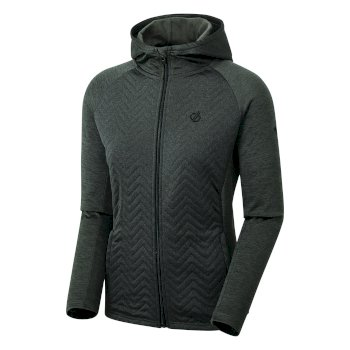 Women's Faultless Full Zip Hooded Hybrid Fleece Charcoal Grey