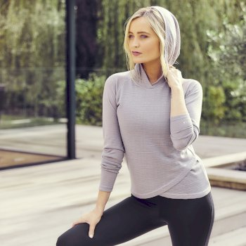 The Laura Whitmore Edit - Result Overheard Hooded Sweater Argent Grey