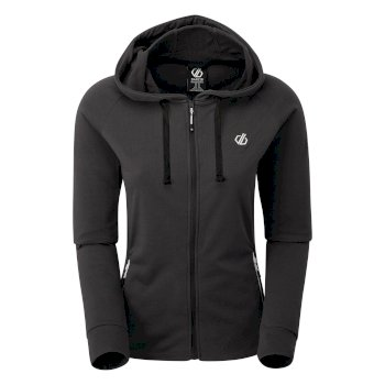 Women's Enacy Full Zip Hooded Fleece Ebony Grey