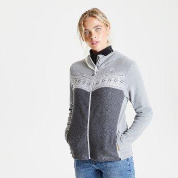 Women's Herald Full Zip Hooded Fleece Ash Charcoal Grey