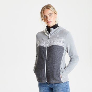 Dare 2b Herald Sweat Capuche Effet Tricot Zipp/é Knitwear Femme