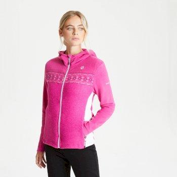 Women's Herald Full Zip Hooded Fleece Active Pink