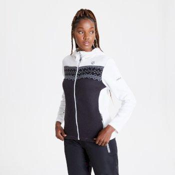 Sweat polaire à capuche Femme HERALD avec ouverture zippée Blanc
