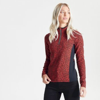 Swarovski Embellished - Women's Immortal Half Zip Luxe Sweater Seville Red