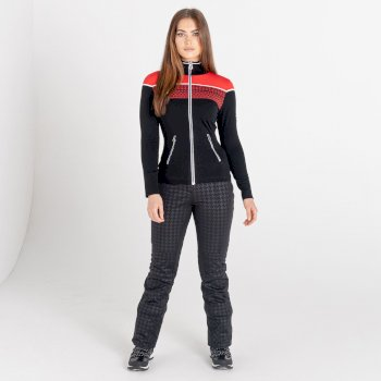 Swarovski Embellished - Sweat Femme LUCENT avec ouverture zippée  - Collection Luxe Rouge